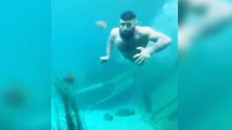 Half-naked man caught diving into Aussie aquarium 1