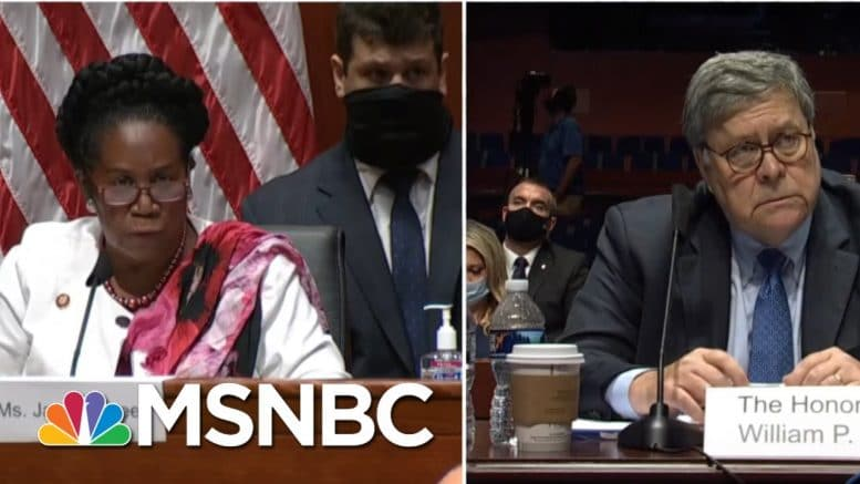 I Don't Agree: Barr Questioned By Rep. Jackson Lee On Systemic Racism In Police departments | MSNBC 1