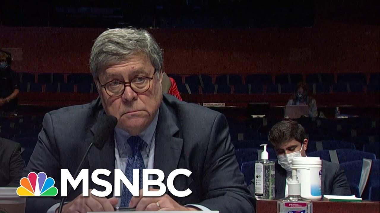 Chuck Todd: 'Surprised At How Comfortable Bill Barr Is Playing A Partisan'   MSNBC 1