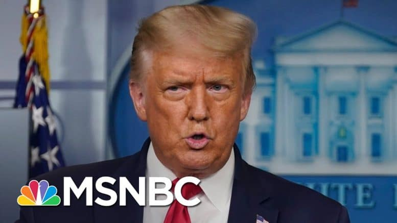 Trump Defends Sharing Bogus COVID-19 'Cure' At Odds With His Own FDA | The 11th Hour | MSNBC 1