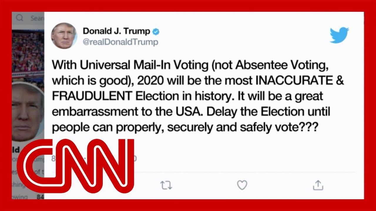 Trump floats delaying election despite lack of authority to do so 1