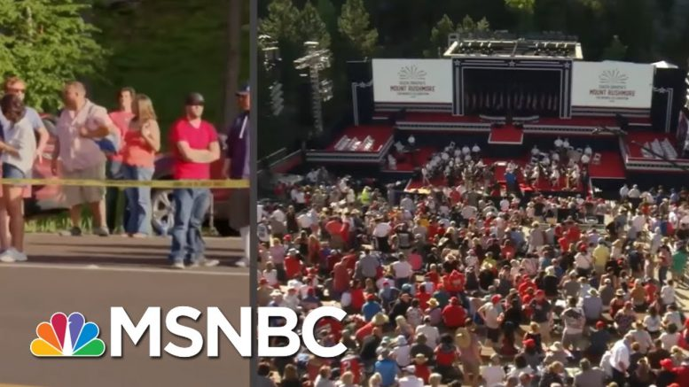 Cal Perry On The Scene In South Dakota Prior To The Arrival Of President Trump | All In | MSNBC 1