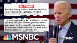 On Fourth of July Weekend, Biden Projects Optimism Against Trump's 'Dystopia of Fascism' | MSNBC 2
