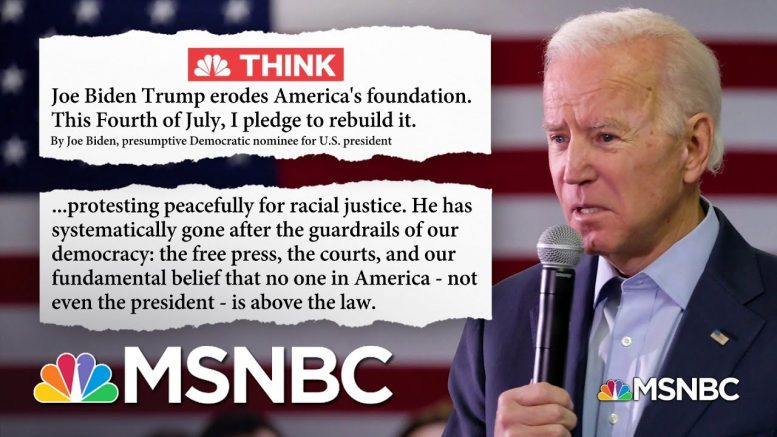 On Fourth of July Weekend, Biden Projects Optimism Against Trump's 'Dystopia of Fascism' | MSNBC 1