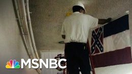 Retired Mississippi Flag Removed On Capitol Hill | The 11th Hour | MSNBC 2