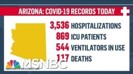 'In Crisis:' Arizona Continues To See Record Spike In COVID-19 Cases And Deaths   MTP Daily   MSNBC 9