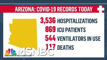 'In Crisis:' Arizona Continues To See Record Spike In COVID-19 Cases And Deaths | MTP Daily | MSNBC 10