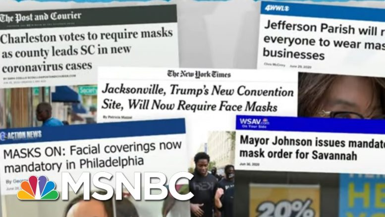 Local Leaders Not In Trump's Thrall Issue New Mask Mandates | Rachel Maddow | MSNBC 1