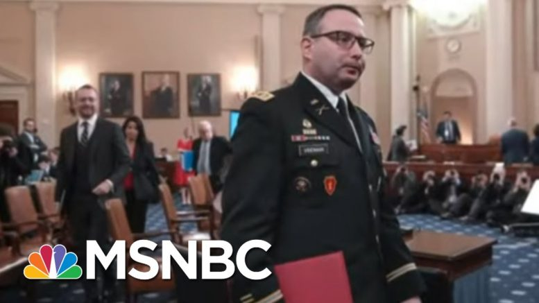 'Bullying, Intimidation, And Retaliation:' Key Impeachment Witness Vindman Retires | All In | MSNBC 1