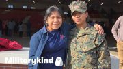 Marine surprises younger sister at graduation | Militarykind 3