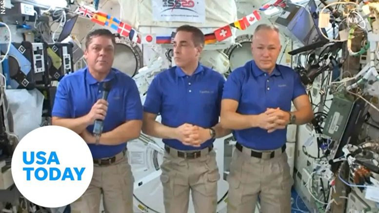 History-making astronauts aboard the International Space Station discuss return to Earth | USA TODAY 1