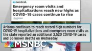 Desperate Measures In Arizona As COVID-19 Overwhelms Hospitals | Rachel Maddow | MSNBC 5