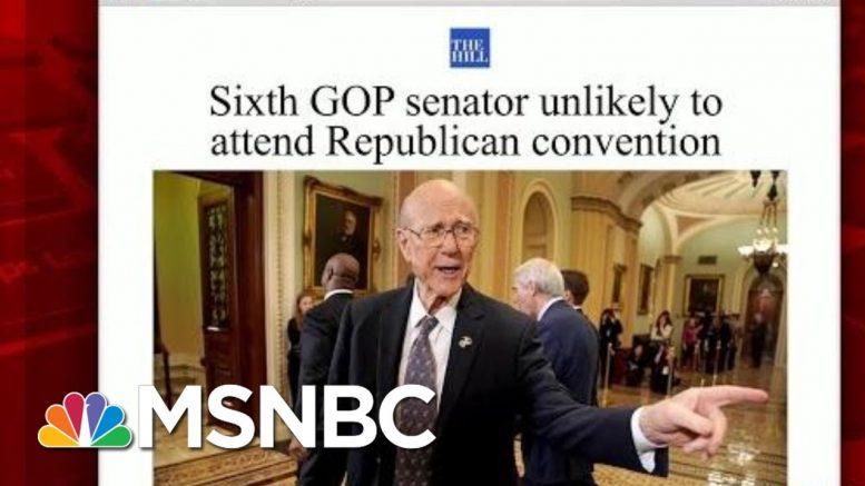 Sixth GOP Senator Says Unlikely To Attend RNC | Morning Joe | MSNBC 1