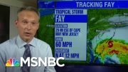 Tropical Storm Fay Brings Rare High Winds To New York City | MSNBC 4