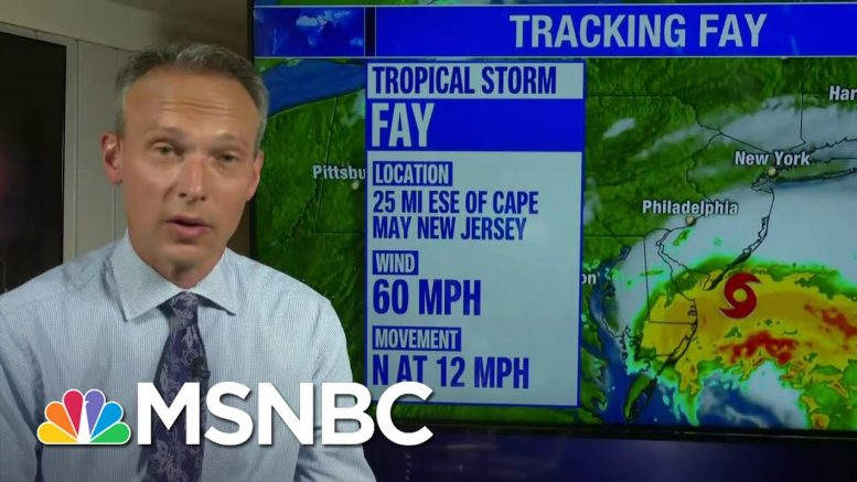 Tropical Storm Fay Brings Rare High Winds To New York City | MSNBC 1