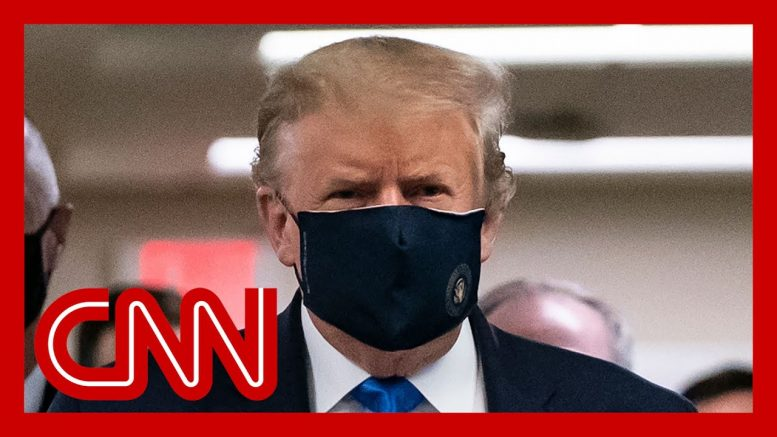 Trump wears a mask for first time in front of press pool 1