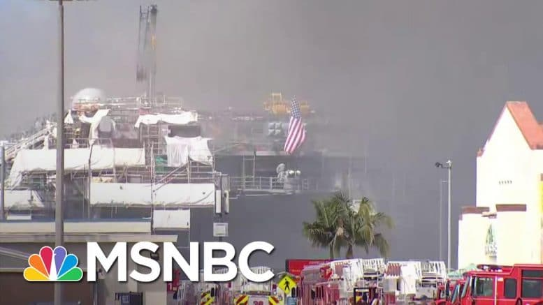 U.S. Navy Confirms Ship On Fire at San Diego Base | MSNBC 1
