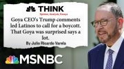 Backlash Against Goya CEO Explained As Calls For Boycott Grow | MSNBC 2