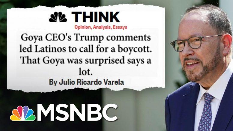Backlash Against Goya CEO Explained As Calls For Boycott Grow   MSNBC 1