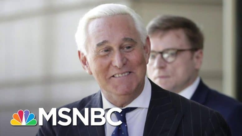 Roger Stone: Trump Likely Saved My Life By Commuting My Sentence | The 11th Hour | MSNBC 1