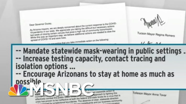 No End In Sight For COVID-19 In Arizona As Governor Remains Idle   Rachel Maddow   MSNBC 1