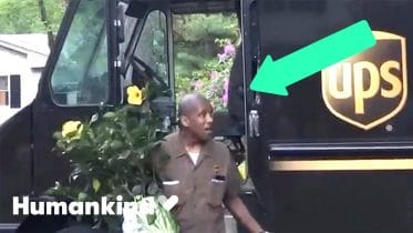 Neighbors crowd the street to thank UPS driver | Humankind 6