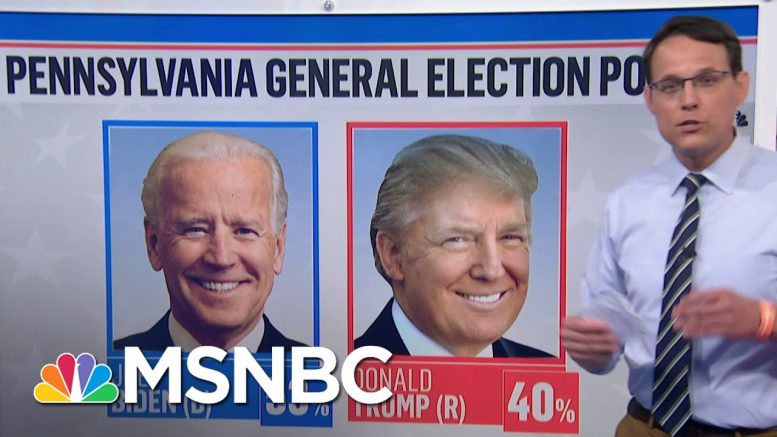 Biden Holds Double-Digit Lead Over Pres. Trump In Pennsylvania | MSNBC 1