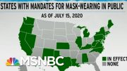 Corporations Fill Leadership Void On Mask Policy | Rachel Maddow | MSNBC 4