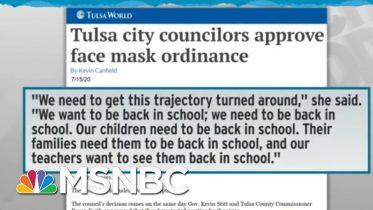 Tulsa City Council Votes For Mask Ordinance To Stem Coronavirus | Rachel Maddow | MSNBC 6