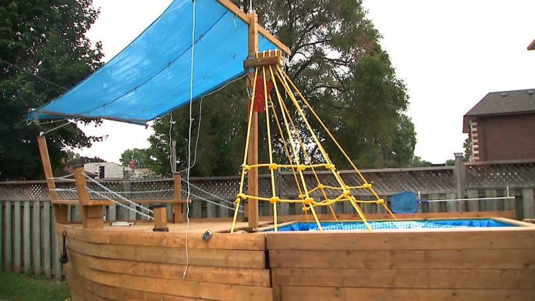 Toronto father forced to dismantle 'pirate ship' 1