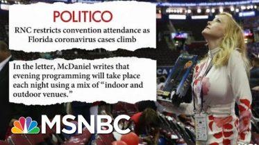 Republicans Limit Jacksonville Convention Attendance | Morning Joe | MSNBC 6