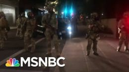 Wheeler: Unidentified Feds Detaining Protesters Are 'Making Things Worse' | The 11th Hour | MSNBC 9
