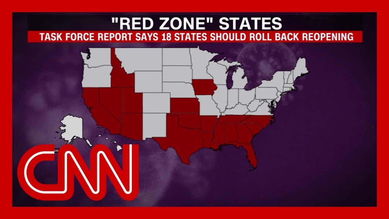 White House coronavirus task force aware of 18 'red zone' states 1