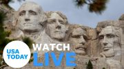 President Trump participates in 2020 Mount Rushmore Fireworks Celebration (LIVE) | USA TODAY 4