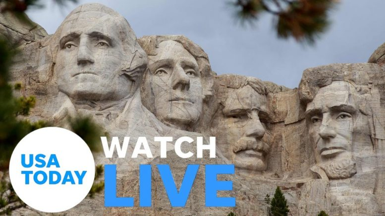 President Trump participates in 2020 Mount Rushmore Fireworks Celebration (LIVE) | USA TODAY 1