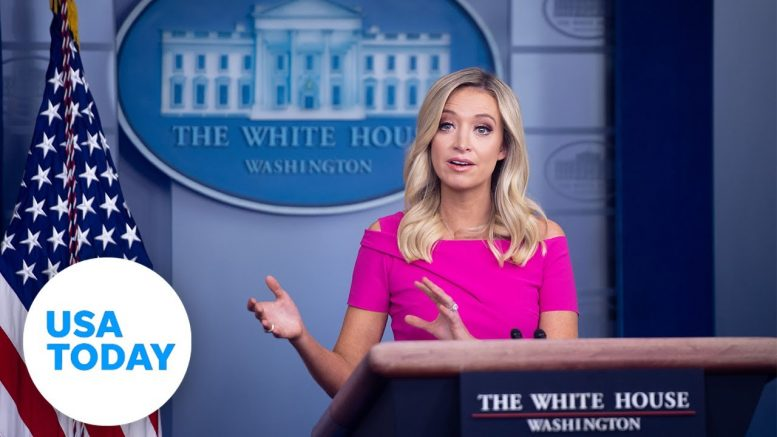 WHITE HOUSE PRESS SECRETARY KAYLEIGH MCENANY HOLDS PRESS BRIEFING (LIVE) | USA TODAY 1