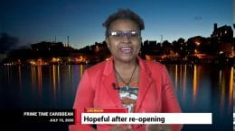 GRENADA'S TOURISM MINISTER Clarice Modeste on PRIME TIME CARIBBEAN 8