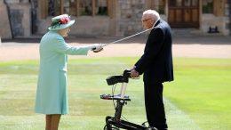 U.K. veteran Captain Tom Moore knighted by Queen Elizabeth 1