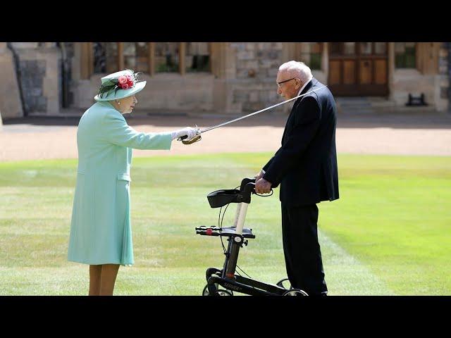U.K. veteran Captain Tom Moore knighted by Queen Elizabeth 8