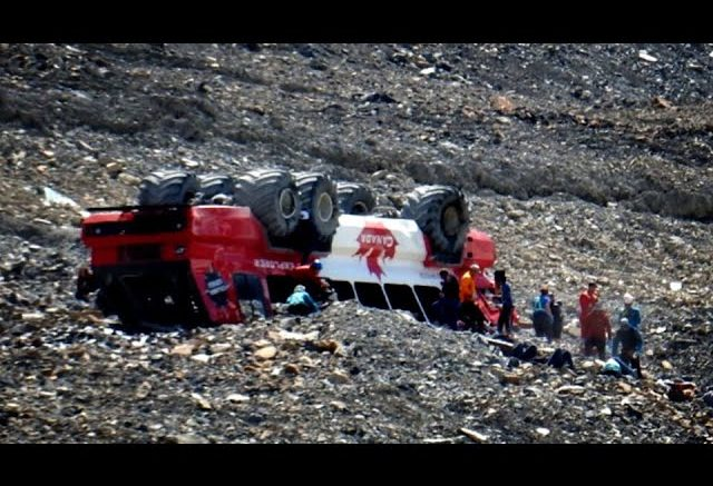 Three people are dead after an Alberta glacier tour bus rolled over 1