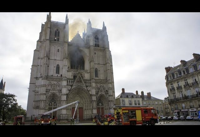 A fire that damaged a centuries-old cathedral in Nantes, France, is the subject of an arson probe. 1