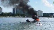 Four people rescued from a burning boat in Barrie, Ont. 2