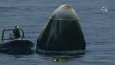 NASA astronauts in SpaceX capsule make splashdown for the first time in 45 years. 10