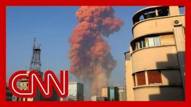 Video shows huge explosion rocking central Beirut 6