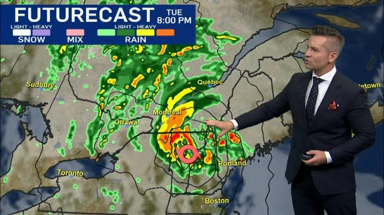 When is Tropical Storm Isaias expected to hit Canada and what strength will it be? 1