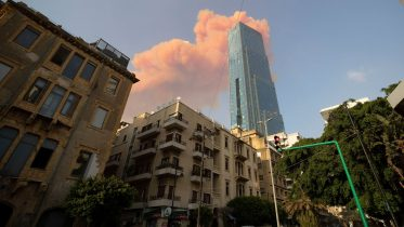Here is the moment two massive explosions ripped through Beirut 6