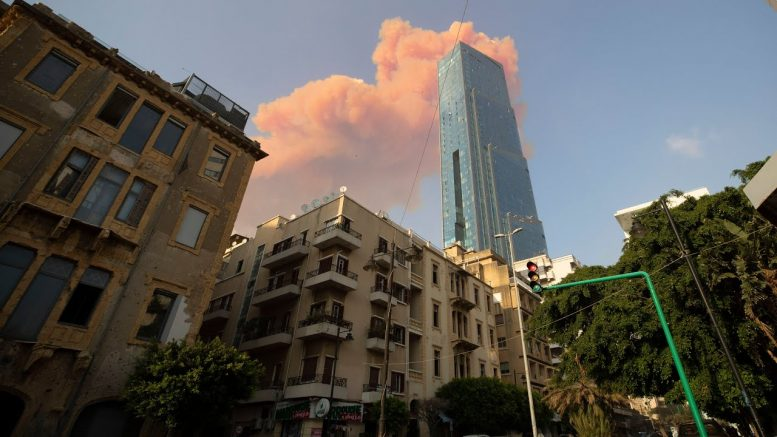 Here is the moment two massive explosions ripped through Beirut 1