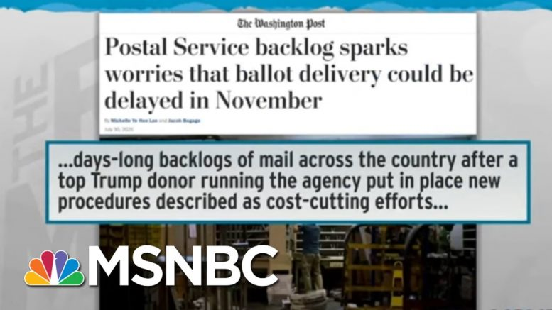 Fallacy Of Trump Mail Voting Criticism Exposed By Colorado Success | Rachel Maddow | MSNBC 1