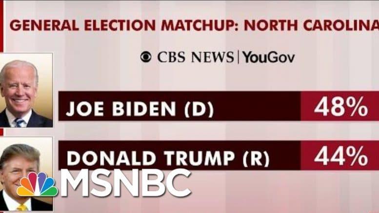 Joe Biden Leading Trump In North Carolina: Poll | Morning Joe | MSNBC 1