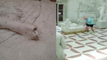 Caught on cam: Tourist breaks toes off 200-year-old statue 10